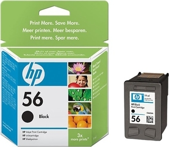 Bilde HP Blekkpatron Sort 56 (19 ml) C6656AE