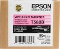 Epson Blekkpatron T580B Vivid Light Magenta 80ml.