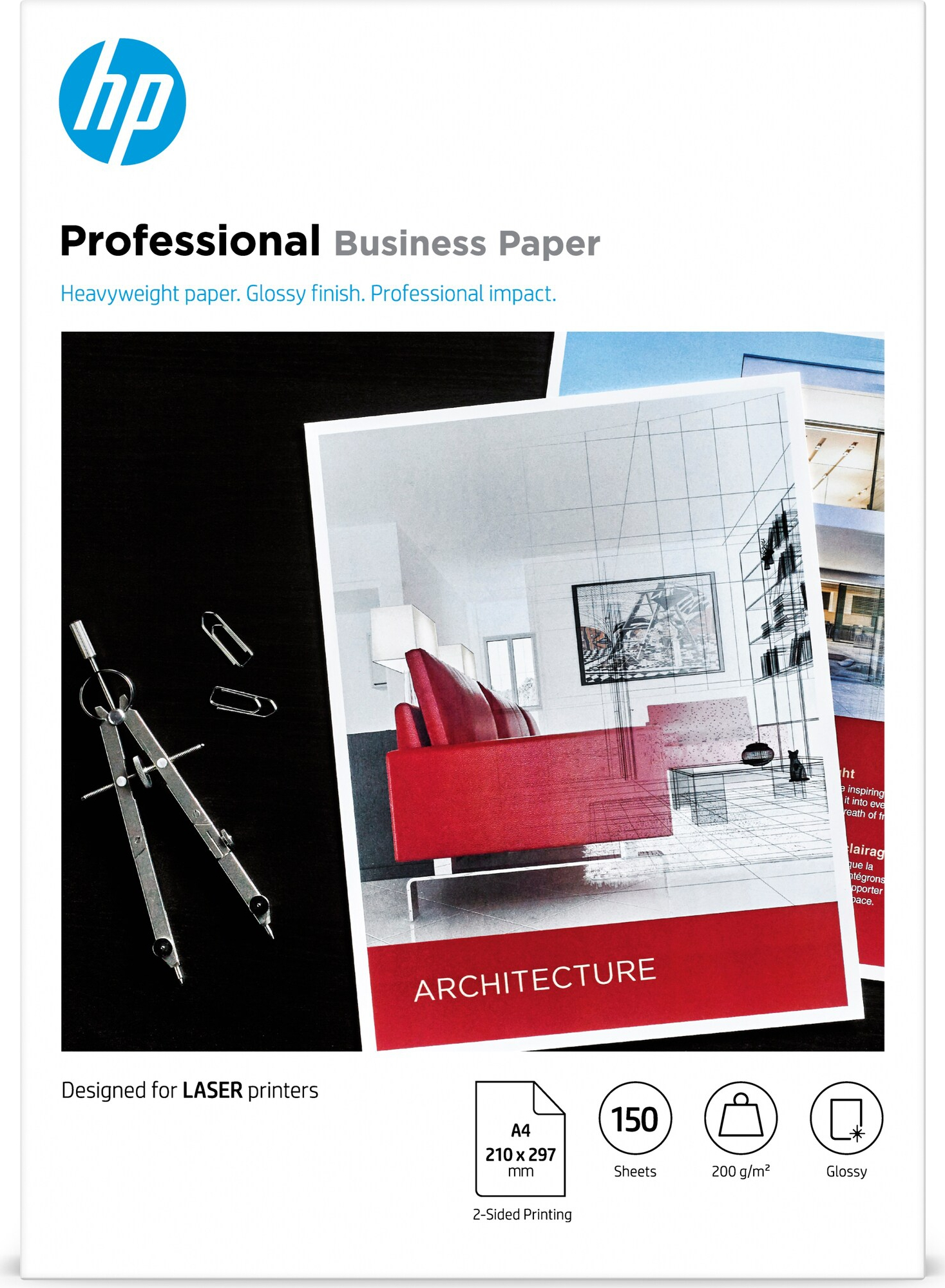 Bilde A4 Laser Professional Business glossy paper 200g (150)