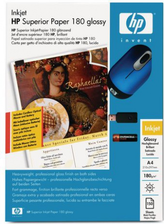 HP Papir A4 Superior Inkjet Paper Glossy 180g (50 stk)