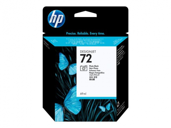 HP Blekkpatron No.72 Foto Sort (69ml)