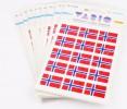 Etikett Herma Vario flagg Norge 22x15mm (30)