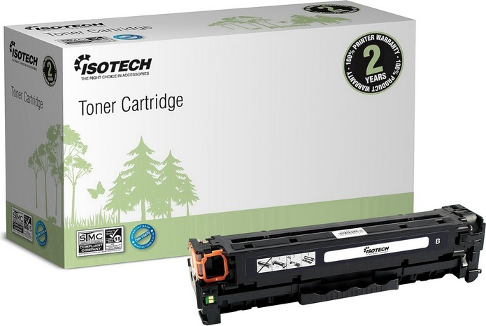 Bilde ISOTECH Black Toner Cartridge Replaces: TK-550K Nordic Swan Certified